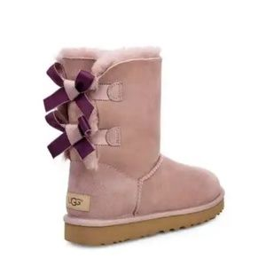 Ugg Bailey Bow II Shimmer Boots Pink 1102937